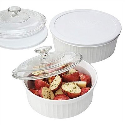 Corningware French White 6 Piece Baking Set