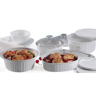 Corningware French White 10 Piece Baking Set