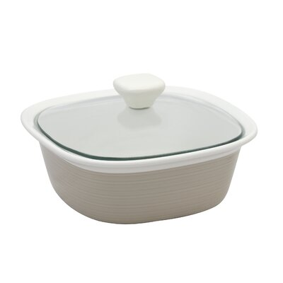 Corningware Etch Square 1.5 Qt. Dish with Glass Cover