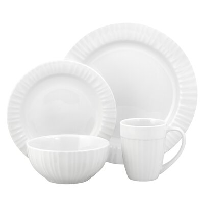 French White Dinnerware Set