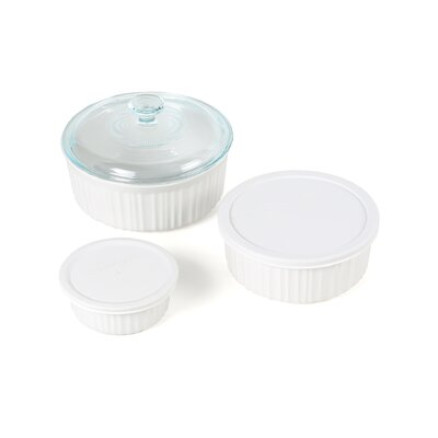 French White 6 Piece Dish Set
