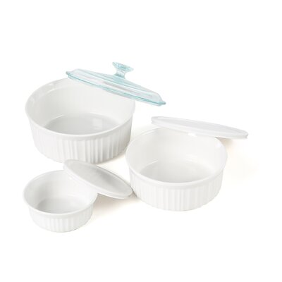 Corningware French White 6 Piece Dish Set