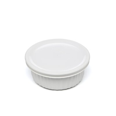 Corningware French White 16 oz. Round Dish with Plastic Cover