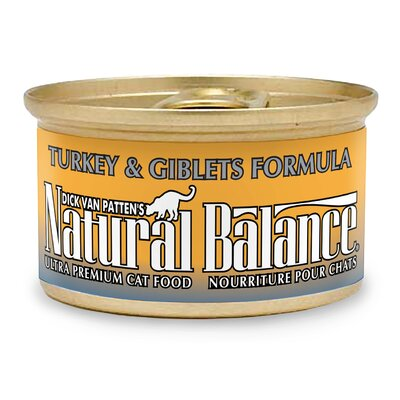 Natural Balance Turkey Giblet Canned Cat Food  (3-oz, case of 24)