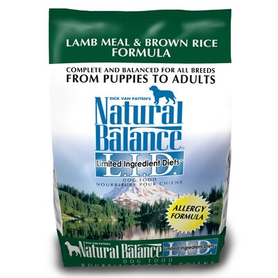 Natural Balance Limited Ingredient Diets Lamb Meal and Brown Rice Formula Dry Dog Food