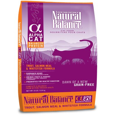 Natural Balance Alpha Grain Free Trout, Salmon and Whitefish Cat Food