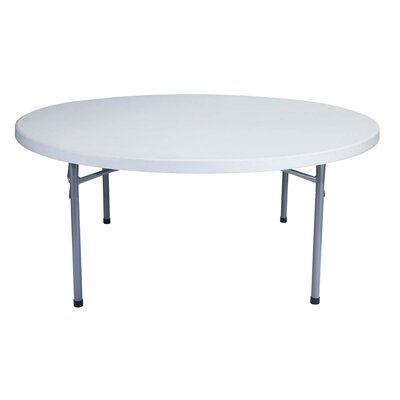 "National Public Seating 71"" Round Blow Molded Folding Table"