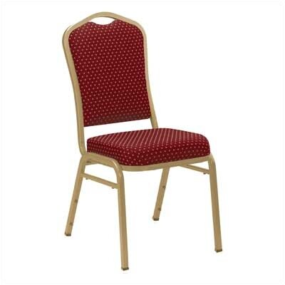 National Public Seating Series 9300 Fabric Silhouette Banquet Stacker with Round Designer Back
