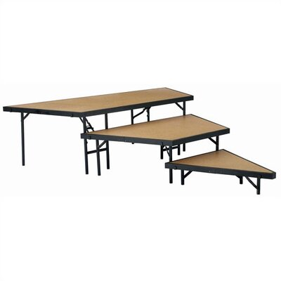 National Public Seating Stage Pie Riser Set in Hardboard