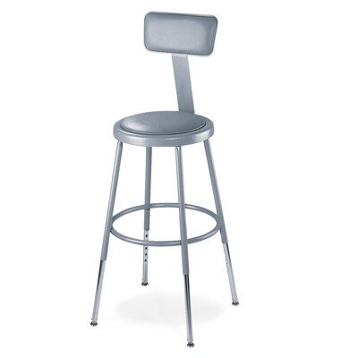National Public Seating Height Adjustable Stool with Adjustable Backrest
