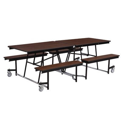 National Public Seating Mobile Cafeteria Bench-Table