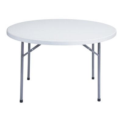 "National Public Seating 48"" Round Blow Molded Folding Table"