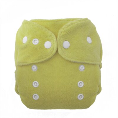 Duo Fab Fitted Diaper Snap in Honeydew