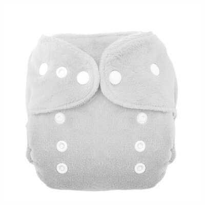 Duo Fab Fitted Diaper Snap in White