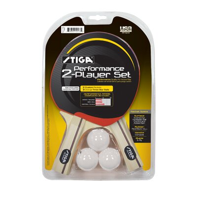 Stiga Performance 2-Player Table Tennis Racket Set