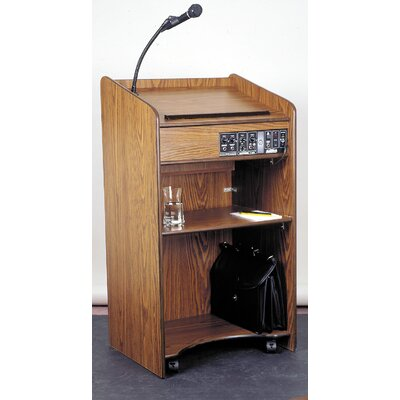 Oklahoma Sound Corporation iscratAristocrat Floor Sound Lectern #6010