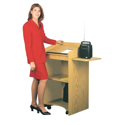 Oklahoma Sound Corporation Aristocrat Floor Lectern #600 (Non Sound)