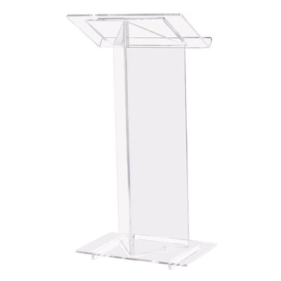 "Oklahoma Sound Corporation ""V"" Style Clear Podium #410"