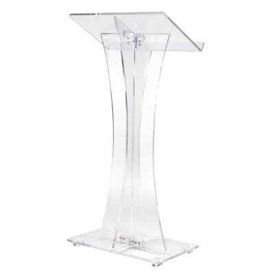 Oklahoma Sound Corporation Curved Style Clear Podium #471