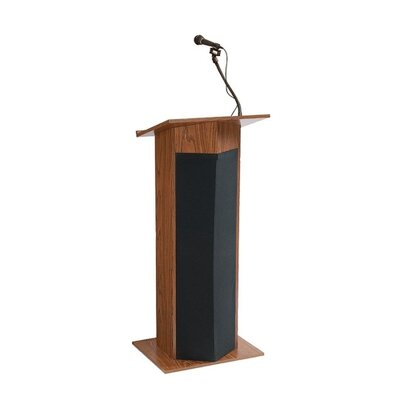 "Oklahoma Sound Corporation Presentation Lectern, 22""x17""x45"""