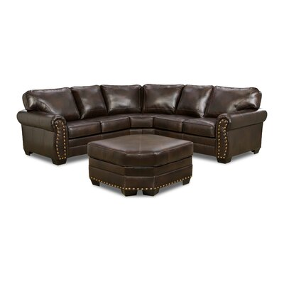 Panama Sectional with Nailhead Detail