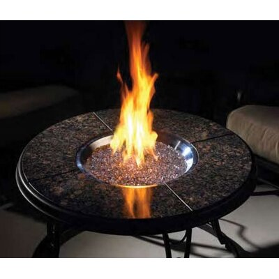 The Outdoor GreatRoom Company Fire Pit Table with Granite Top and Lazy Susan