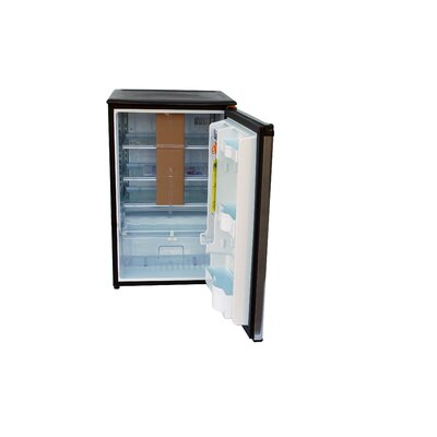 The Outdoor GreatRoom Company Darby Glass Shelf Stainless Steel Refrigerator