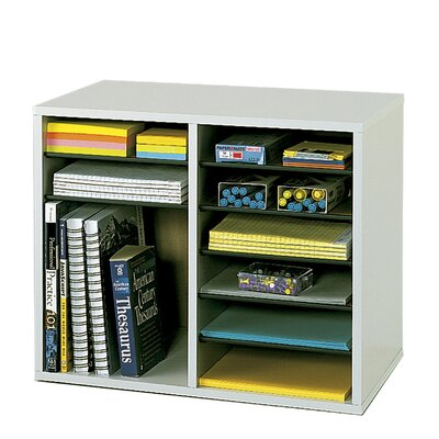 Safco Products Company Wood Adjustable-Compartment Literature Organizer (Desktop)