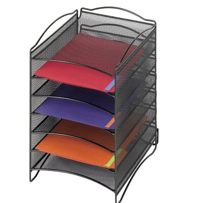 Safco Products Company Onyx Steel Mesh Lliterature Sorter