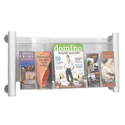 Safco Products Company Luxe 3 Pocket Magazine Rack