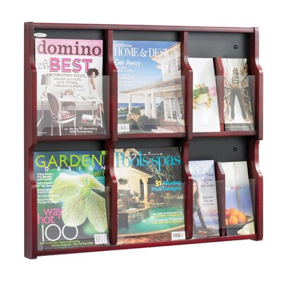 Safco Products Company Expose 6 Pocket Magazine/12 Pocket Pamphlet Display Wall Rack