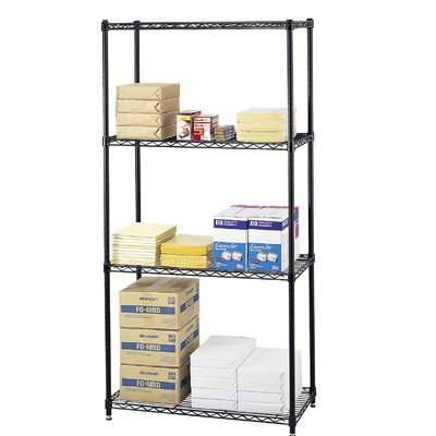 "Safco Products Company Commercial 72"" H 4 Shelf Shelving Unit Starter"