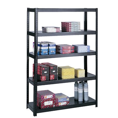"Safco Products Company Boltless Steel 49"" H 4 Shelf Shelving Unit"