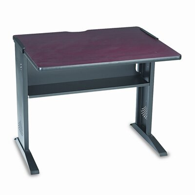 "Safco Products Company Computer Desk with Reversible Top, 35.5"" Wide"
