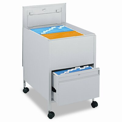 "Safco Products Company 28"" Locking Mobile Tube 1-Drawer Mobile File"