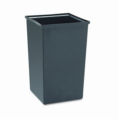 Safco Products Company Push Door Waste Square Receptacle with Flat Top