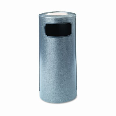 Safco Products Company Twelve Gallon Black Speckle Ash and Trash Receptacle