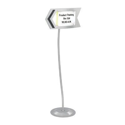 Safco Products Company Customizable Arrow Sign in Gray
