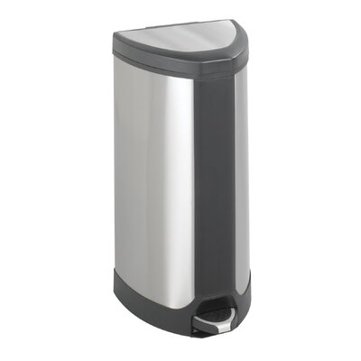 Safco Products Company Step-On 10 Gallon Receptacle in Stainless Steel