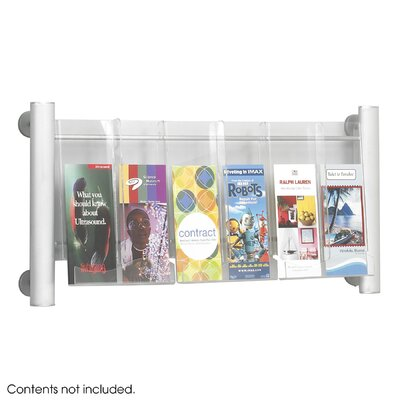 Safco Products Company Luxe Magazine Rack, 3 Compartments