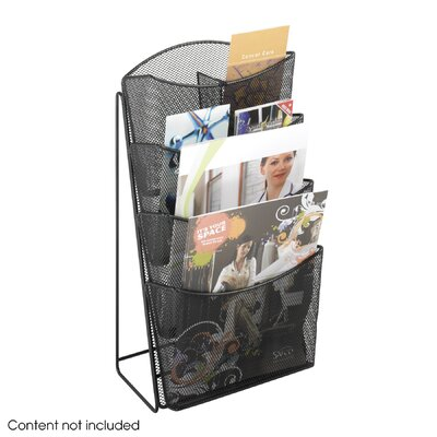 Safco Products Company Onyx Mesh 4 Compartments Counter Display