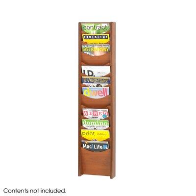Safco Products Company 12 Pocket Wood Magazine Rack