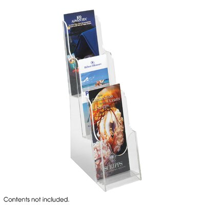 Safco Products Company Acrylic 3 Pocket Pamphlet Display