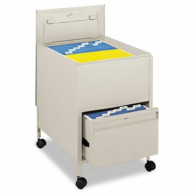 Safco Products Company Locking Mobile Tub File with Drawer, Legal