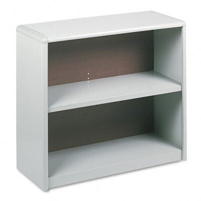 Safco Products Company Value Mate Series Bookcase, 2 Shelves, 31-3/4w x 13-1/2d x 28h, Gray                                                         
