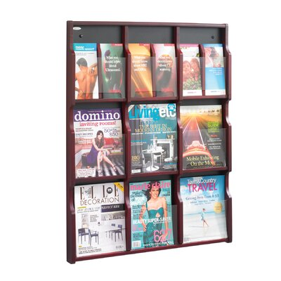 Safco Products Company Expose Adj Magazine/Pamphlet 9-Pocket Display