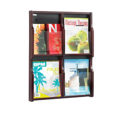 Safco Products Company Expose Four Magazine and Eight Pamphlet Display Wall Rack