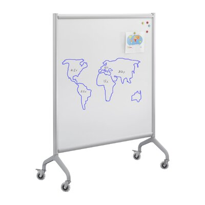 Safco Products Company Rumba Screen Magnetic Whiteboard in Gray