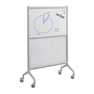 Safco Products Company Rumba Screen Magnetic Whiteboard with Polycarbonate Panel in Gray