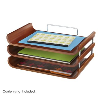 Safco Products Company Bamboo Triple Tray
